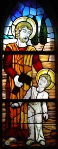 Gebrandschilderd raam - Sint Jozeph