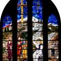 Gebrandschilderd raam - Verrijzenis des Heren
